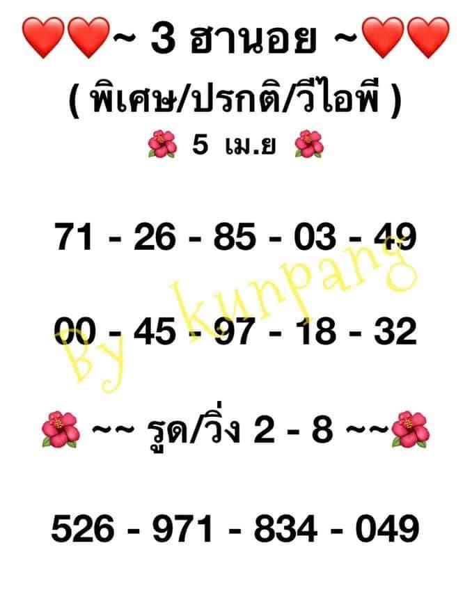 แนวทางหวยฮานอย5-4-64-huaysong13