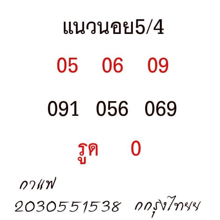 แนวทางหวยฮานอย5-4-64-huaysong14