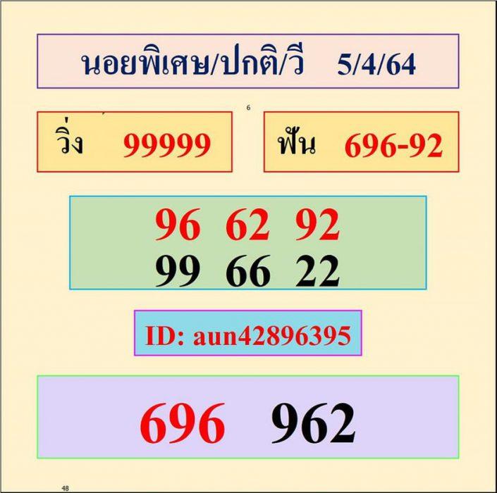 แนวทางหวยฮานอย5-4-64-huaysong8