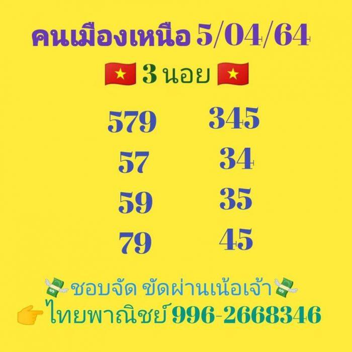 แนวทางหวยฮานอย5-4-64-huaysong9