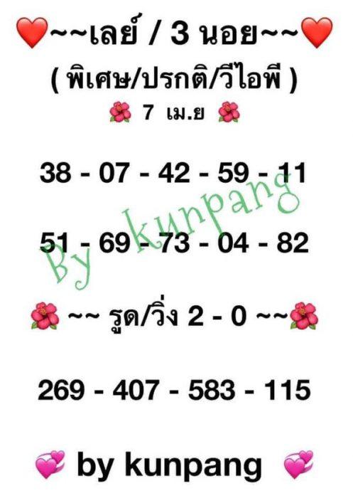 แนวทางหวยฮานอย7-4-64-huaysong10