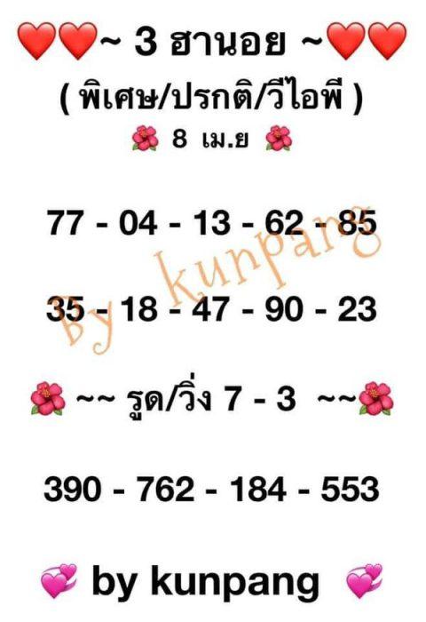 แนวทางหวยฮานอย8-4-64-huaysong6