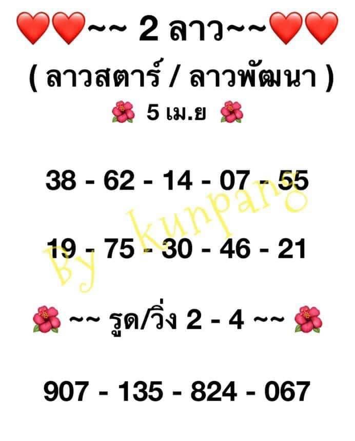 แนวทางหวยลาว5-4-64-huaysong8