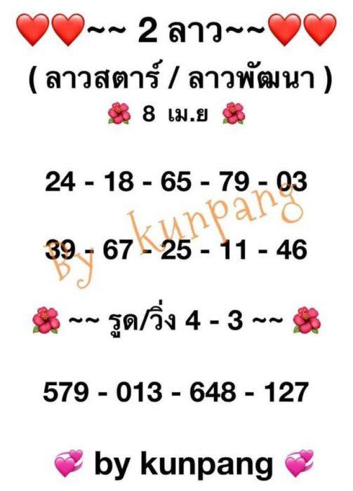แนวทางหวยลาว8-4-64-huaysong4